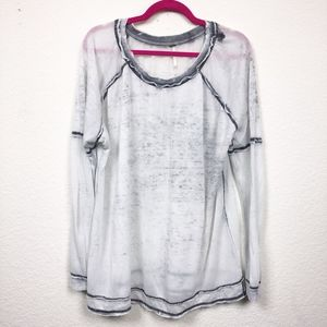 Free People Distressed Sweater Casual Long Sleeve